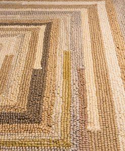 Square Spiral Loop Weave Rug Natural 140×200 1