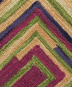 Square Spiral Wool Rugs