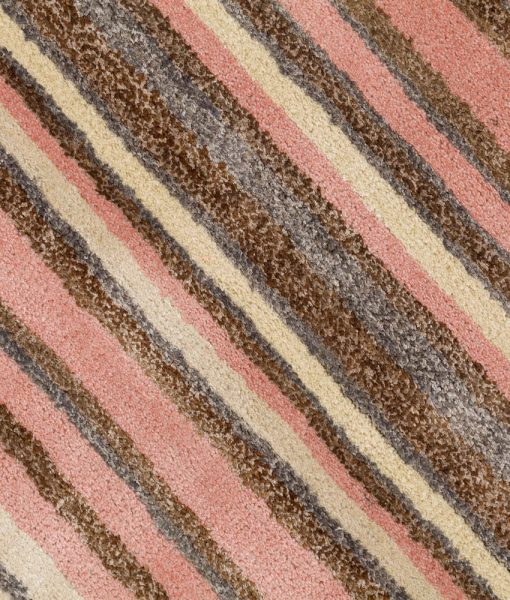 Stripe Rug Wool Jute Bamboo 160x230cm Strawberry Mouse 4