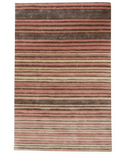 Stripe Rug Wool Jute Bamboo 130x190cm Strawberry Mouse 1