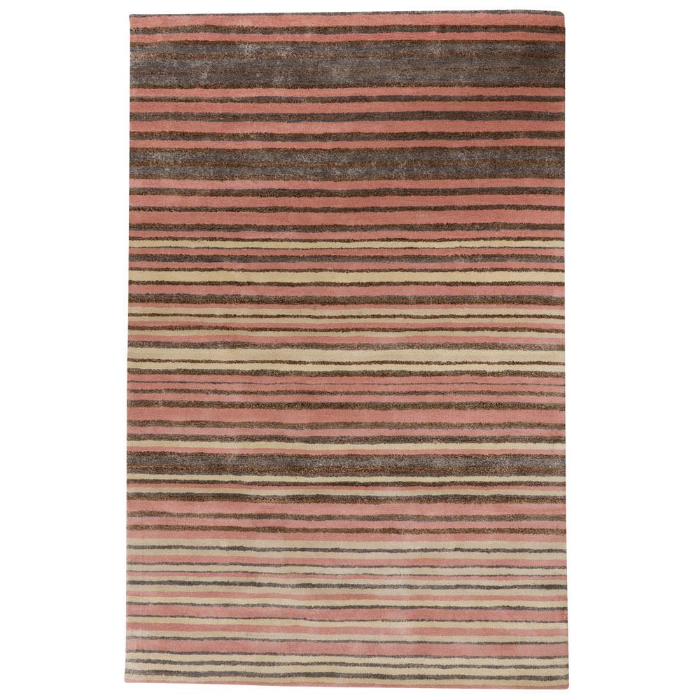Buy Stripe Rug Wool Jute Bamboo 160x230cm Strawberry Mouse