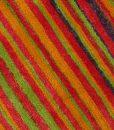 Stripe Rug Wool Jute Bamboo 160x230cm Sugar 4