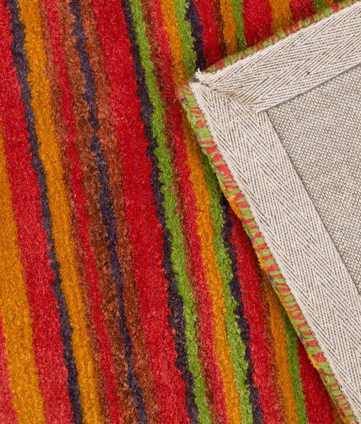 Stripe Rug Wool Jute Bamboo 160x230cm Sugar 3