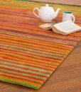 Stripe Rug Wool Jute Bamboo 160x230cm Sugar 2
