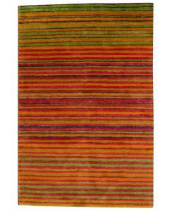 Stripe Rug Wool Jute Bamboo 160x230cm Sugar 1