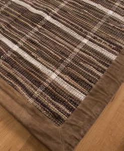 Trasmatta Multi Browns Brown Suede 110x70cm 1