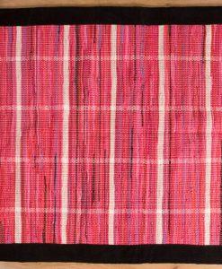 Trasmatta Hosiery Pink Black Suede Trim 200x140cm 1