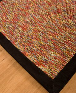 Trasmatta Multi Colour Black Suede 200x140cm 1