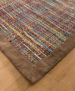 Trasmatta Multi Green Brown Suede 170x110cm 1