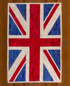 Patchwork Leather/Cowhide Rug UNIONJACKCOLOUR 120x200cm 2