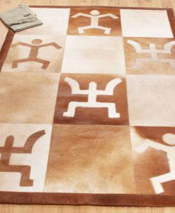 Patchwork Leather/Cowhide Rug e8 120x180cm 2