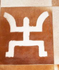 Patchwork Leather/Cowhide Rug e8 120x180cm 1