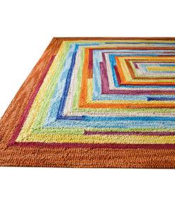 Bespoke Square Spiral Wool Rugs 1