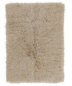 Beige White Mix Flokati Rug 2800g/m2 70x140cm 1