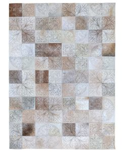 CLEARANCE CL28 Patchwork Leather Rug 140x200cm 1
