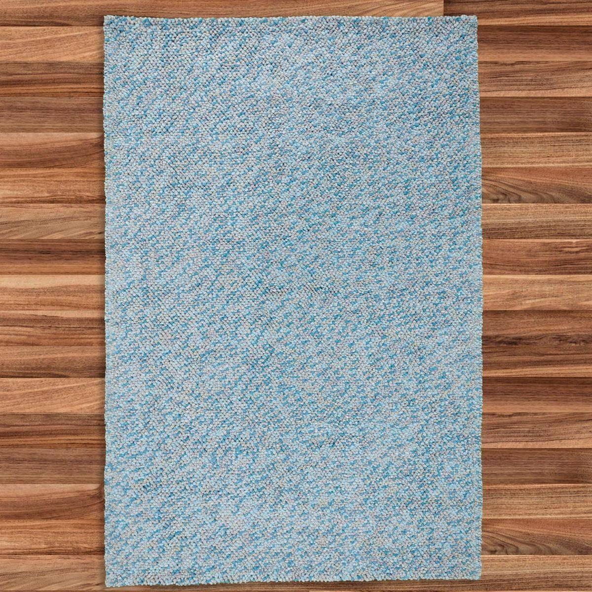 Buy Felt Pebble Rug Turquoise 200x300cm