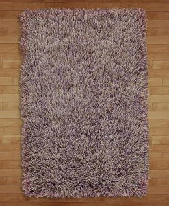 Fusilli Shag Rug Purples/Browns 70x140cm 2