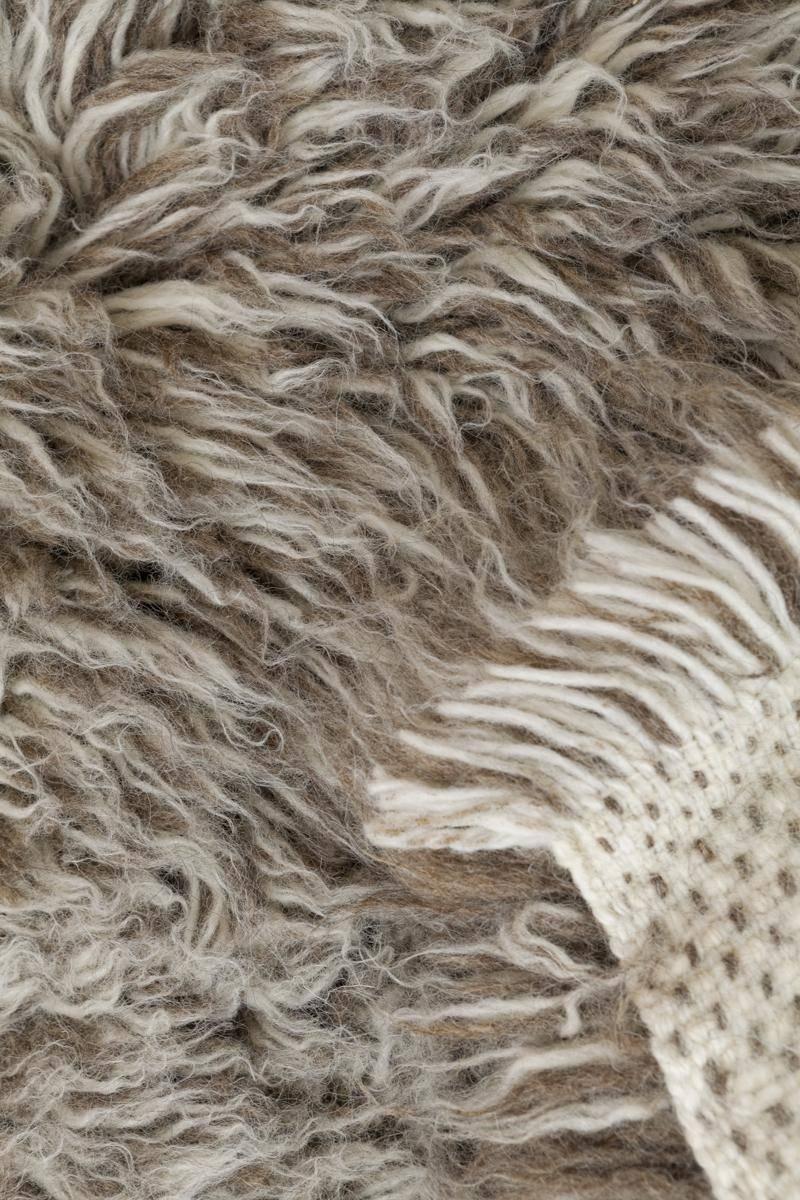 Online Carpets Uk >> Buy Natural Grey/White/Brown Flokati 2800g/m2 140x200cm - sku:66686003 Online - The Real Rug Company