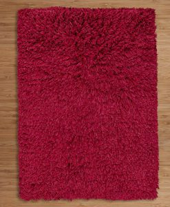 Highlander Shaggy Rug Red 70x140cm 2