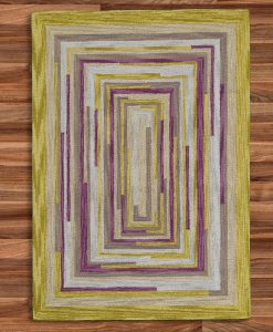 Square Spiral Loop Weave Rug DESERT LIFE 140×200 2