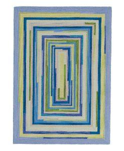 Square Spiral Loop Weave Rug OCEAN 110×170 1