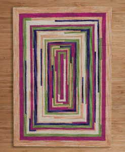 Square Spiral Loop Weave Rug VENICE 110×170 2