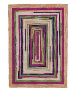 Square Spiral Loop Weave Rug VENICE 140×200 1