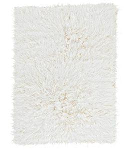 Natural Flokati Rug 2800g/m2 130cm Square 1