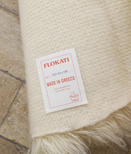 Buy Natural Flokati Rug 1700g M2 150cm Round Online The