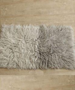 flokati rug - two greys